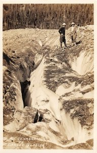 G42/ Foreign RPPC Postcard Cavell Glacier Jasper National Park Crevasse c30s