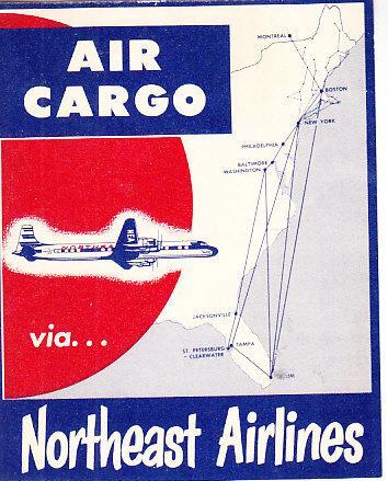 Northeast Airlines Air Cargo Label