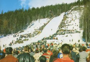 Nels Nelsen Ski Hill Mt. Revelstoke National Park BC Big Hill Postcard D10b