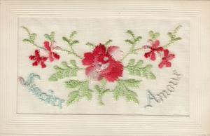 Hand Sewn, 1900-10s; Sincere Amour, flowers