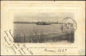 uruguay, MONTEVIDEO, Balsa Barra de Santa Lucia (1902)