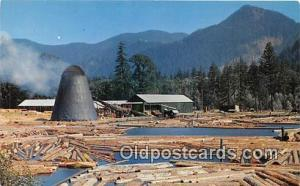Photo by LL Perkins Postcard Post Card Northwest Sawmill & Log Pond