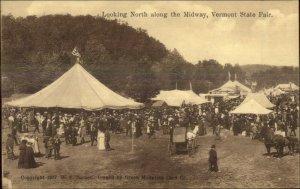 Vermont State Fair Midway Publ White River Junction c1910 Postcard