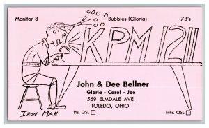 QSL Radio Card From Toledo Ohio KPM1211