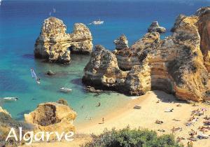 Portugal Algarve Praia do Camilo Lagos Surfer Beach Playa Boats
