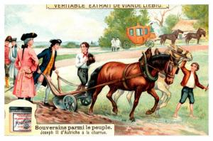 Trade card French, Bouillon OXO,  le Veritable Extrait de Viande Liebig, Colo...