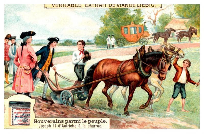 Trade card French, Bouillon OXO,  le Veritable Extrait de Viande Liebig, Colo...