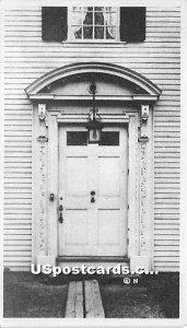 Doorway at Dummer Mansion Built 1715 - Byfield, MA