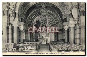 Postcard Old Lyon Basilica of Our Lady of Fourviere The Crypt