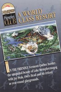Advertisement for Mt. Orford Memphre Club, World Class Resort, Lake Memphrema...