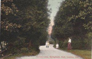 LONDON , Ontario , Canada , PU-1908 ; Lover's Lane , springbank Park