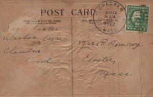 A flower in the Basket Vintage Postcard