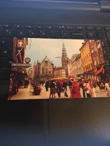 Vintage Postcard: Copenhagen Denmark, the Pedestrian Street
