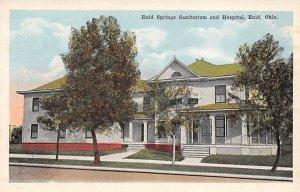 Hospital Post Card Enid Springs Sanitorium and Hospital Enid, Oklahoma, USA U...