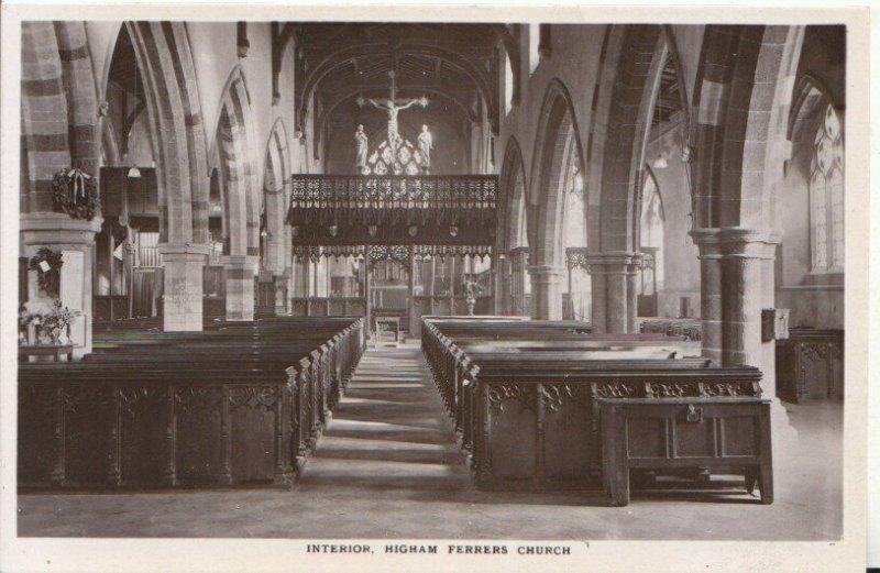 Northamptonshire Postcard - Interior - Higham Ferrers Church - Ref 18531A