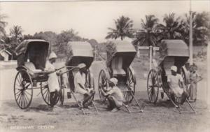 Sri Lanka Ceylon Rickshaws Real Photo