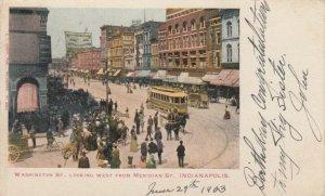 INDIANAPOLIS , Indiana , 1903 ; Washington Street