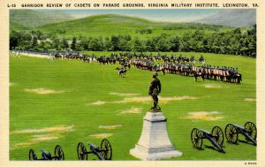 VA - Lexington. Virginia Military Institute, Garrison Review of Cadets