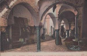 Tunis Tunisia Grand Mosque Entrance Old Antique Postcard