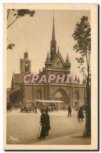 Old Postcard Small Paintings of Paris Eglise Saint Laurent