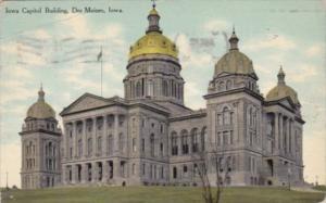 Iowa Des Moines State Capitol Buildings 1910 Curteich