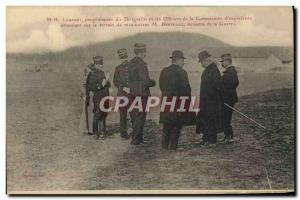 Old Postcard Jet Aviation Lebaudy airship owner and the officers of the Commi...