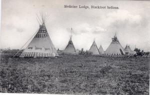 Medicine Lodge, Blackfoot Indians, 1908