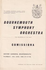 Sergiu Comissiona Bournemouth Symphony Orchestra Dorset Classical Theatre Pro...