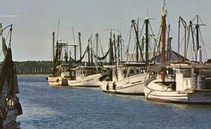 MS - Biloxi. Shrimp and Oyster Fishing Boats