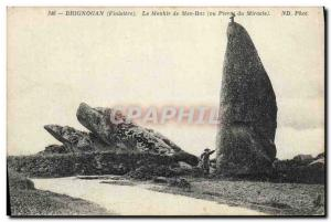 Postcard Old Megalith Dolmen Brignogan The menhir of Men or Raz Stone Miracle