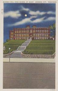 Tennessee Johnson City Science Hill High School At Night