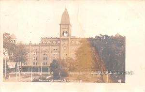 Clifton Springs Sanitarium Clifton Springs NY Postal Used Unknown