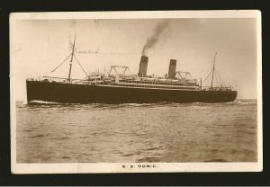 S S Doric Real Photo Postcard Unposted
