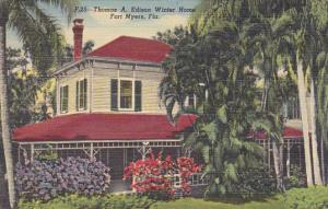 Thomas A Edison Winter Home Fort Myers Florida Curteich