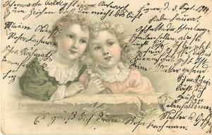 Old Card of Very Cute Swiss Kids 1904 UNDivided Back