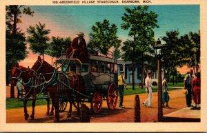 Michigan Dearborn Greenfield Village Stagecoach