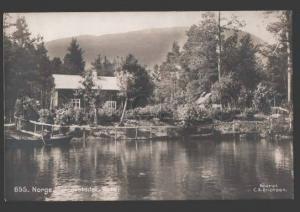 114945 Norge NORWAY Faergestedet VOSS Vintage photo postcard