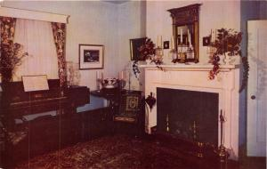 CHARLOTESVILLE VA~ASH LAWN-JAMES MONROE HOME-DRAWING ROOM-HERBERT LANKS POSTCARD