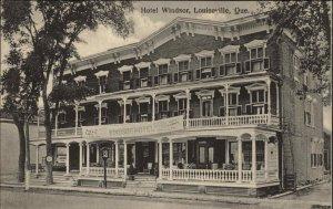 Louiseville Quebec Hotel Windsor c1910 Postcard