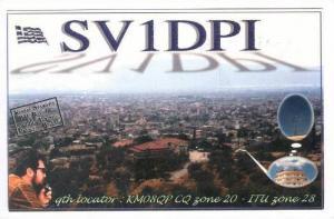 QSL radio card, Agrino, Greece, 50-70s