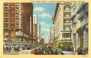 Linen of Seventh at Broadway Los Angeles California CA 1941