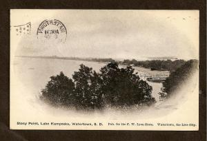 STONY POINT, LAKE KAMPESKA, WATERTOWN, S.D - FLAG CANCEL