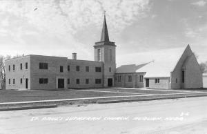 Auburn Nebraska St Pauls Lutheran Church Real Photo Antique Postcard K14350