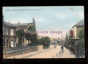 h2222 - Isle of Wight - St.Johns Church & St.James St. Newport, c1907 - postcard