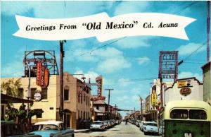 """CPM Greetings From """"Old Mexico"""" Cd.Acuna MEXICO (599157)"""