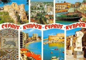 Cyprus multiviews Statues Castle Ruins Beach Harbour Boats Bateaux