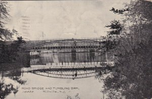 New Jersey Millville Road Bridge & Tumbling Dam 1908 sk2391