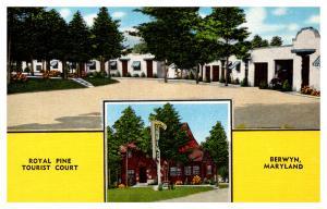 Maryland Berwyn , Royal Pine Tourist Court ,   Motel