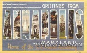 Annapolis, Maryland, Usa Large Letter Town, Towns, Postcard Postcards  Annapo...