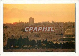 Modern Postcard The Holy City Jerusalem and the Dome of the Rock Israel
